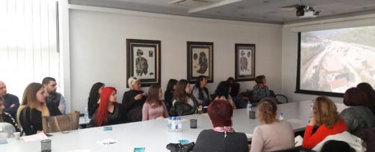 """Дванадесетокласници и учители от ПГАСГ """"Кольо Фичето"""" – Бургас гостуваха на """"Трейс Груп Холд"""" АД и УАСГ"""